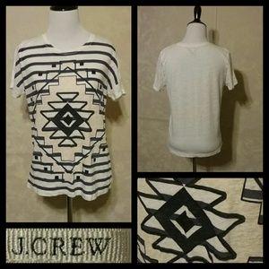 J.Crew printed linen T-shirt